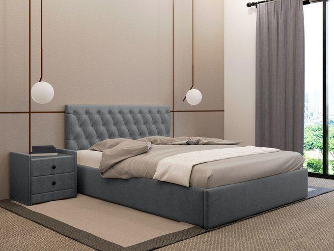 Кровать Фрейлина 140х200 графитового цвета с подъемным механизмом