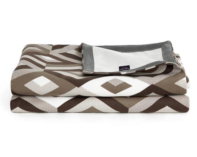 Покрывало Uno Escada Chocolat 140x210 серо-коричневого цвета