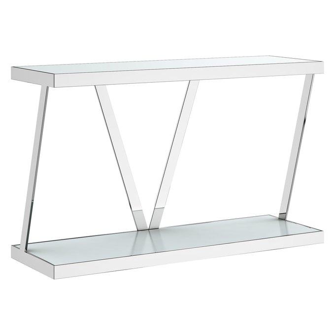 Консоль Marble из стекла и стали