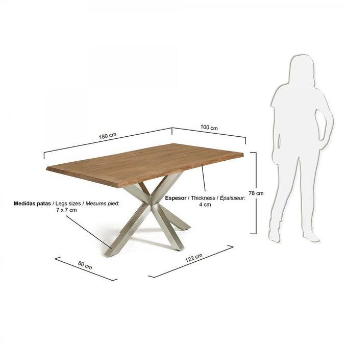 Обеденный стол Julia Grup ARYA из дуба и стали