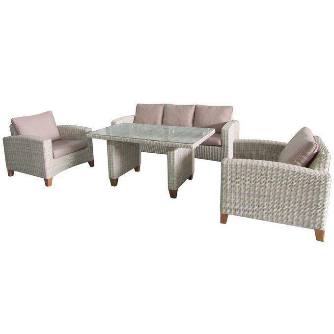Обеденный комплект мебели Minerva на ножках из массива акации