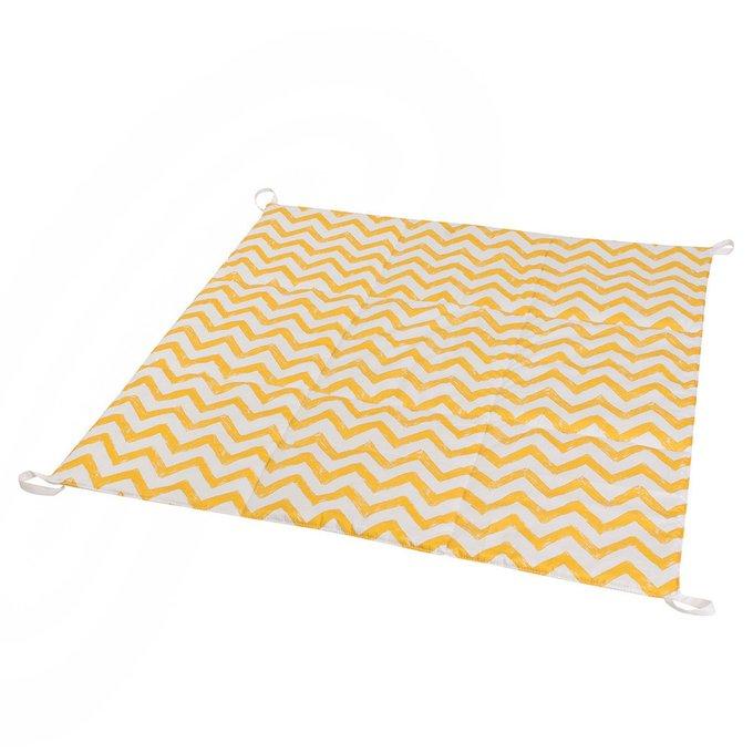 Вигвам большой для детей Yellow Zigzag