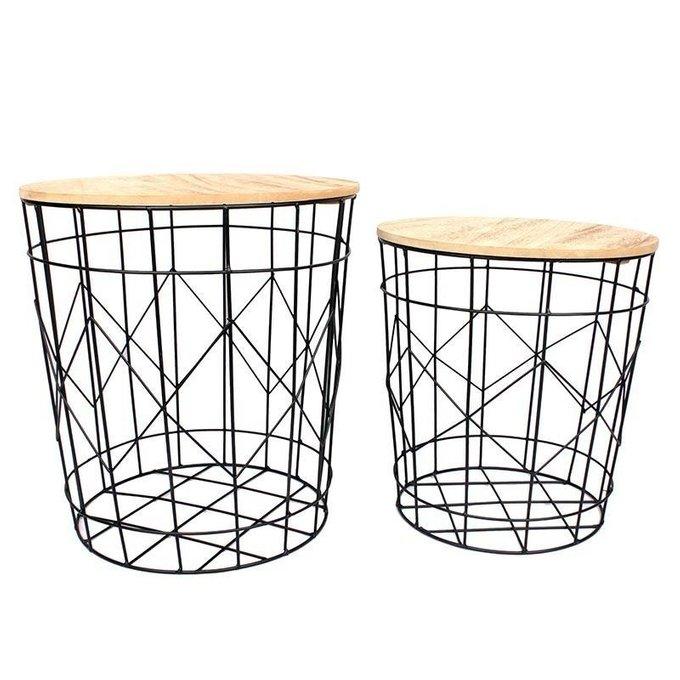 Комплект из двух столов-корзин