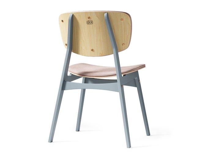 Мягкий стул Sid светлая берёза / оловянный