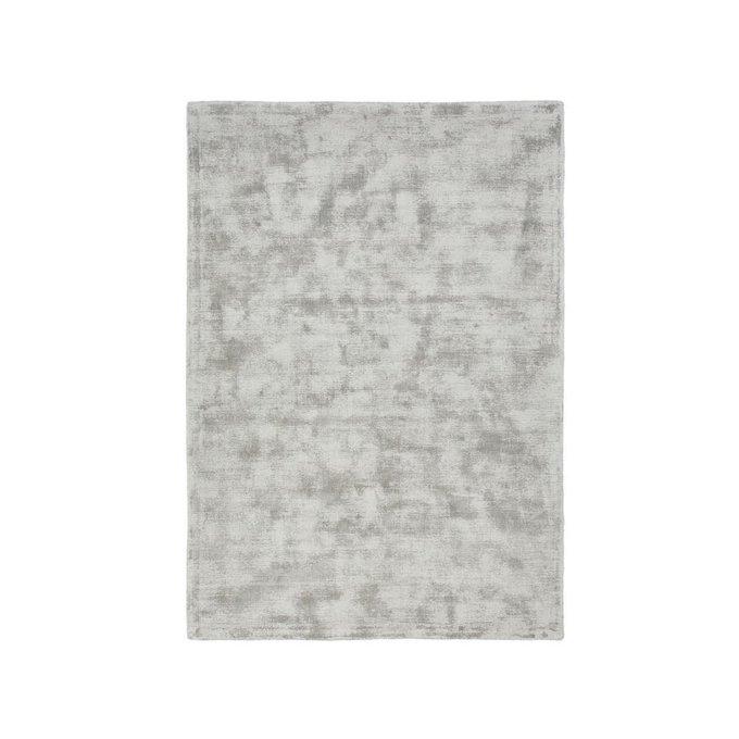 Ковер Izri с эффектом старины из вискозы серого цвета 160x230