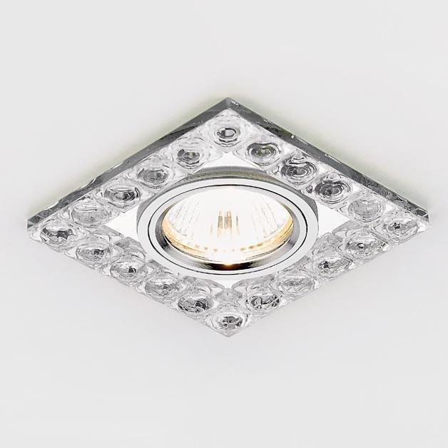 Встраиваемый светильник Crystal из металла и стекла