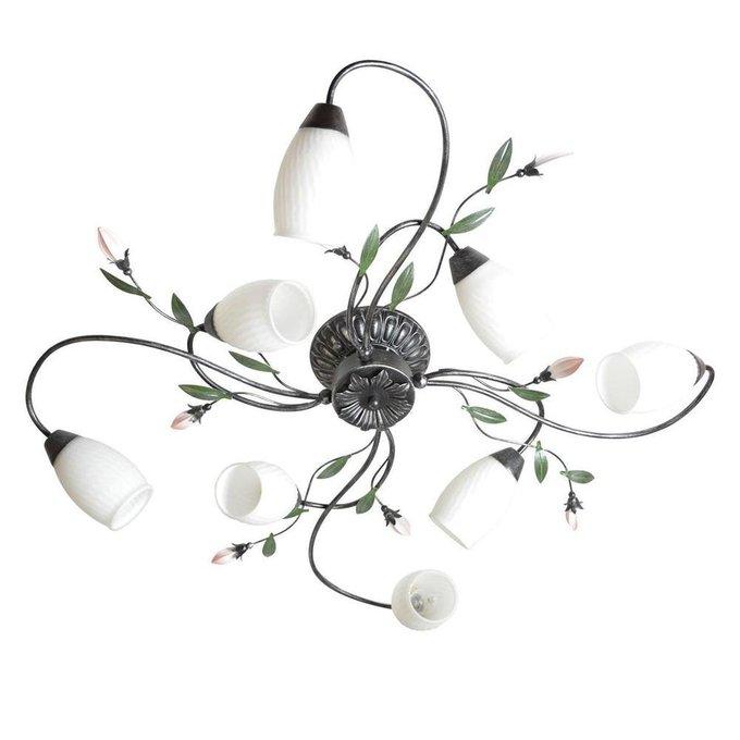 Потолочная люстра Верона с белыми плафонами