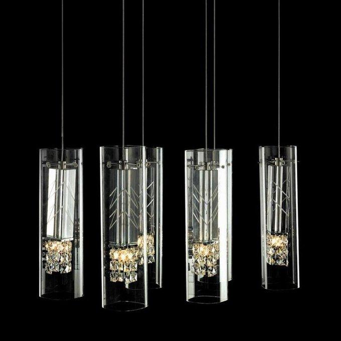 Подвесной светильник на хромированной арматуре
