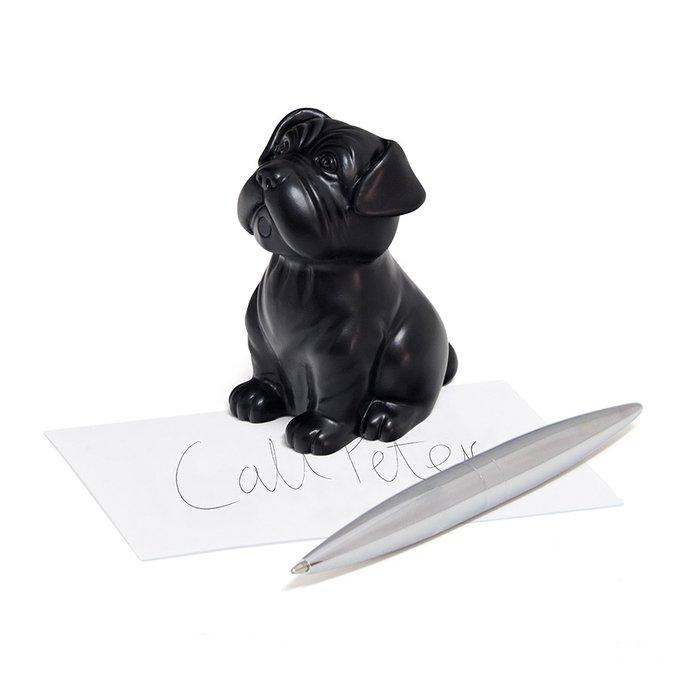 Пресс-папье и держатель для ручек Woof! черный из резины