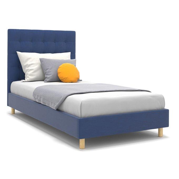 Односпальная кровать Avery синего цвета 90х190