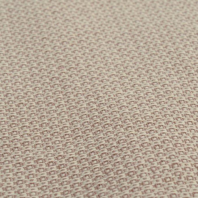 Покрывало Ethnic из хлопка бежевого цвета с вафельным рисунком 230х250