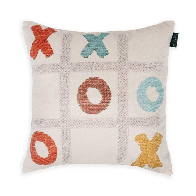 Декоративная подушка Game молочного цвета 45х45