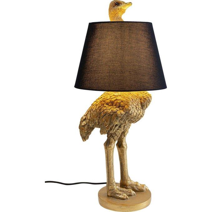 Торшер Ostrich с черным абажуром