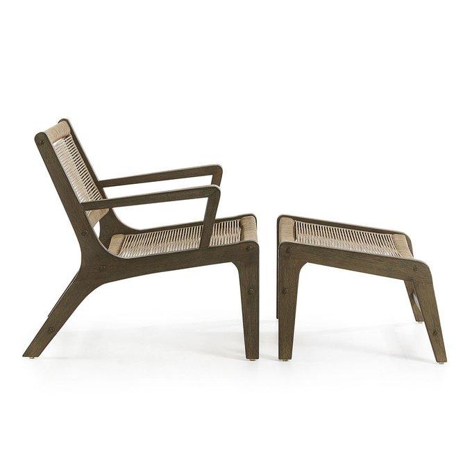 Кресло с подставкой для ног acac Julia Grup BASSO бежевое