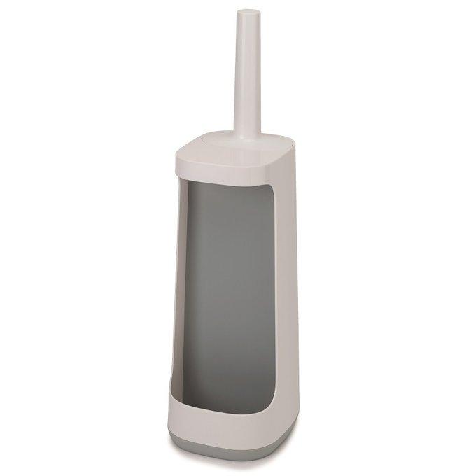 Ёршик для унитаза с отсеком для хранения flex plus серого цвета