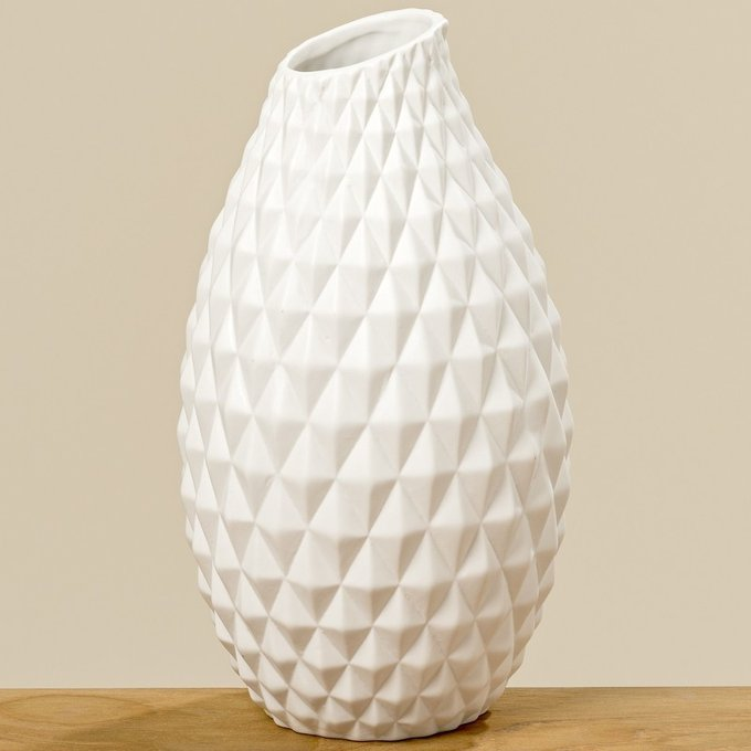 Ваза Haddi из белой керамики