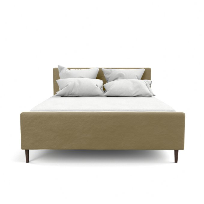 Двухспальная кровать Кристина бежевого цвета 200х200