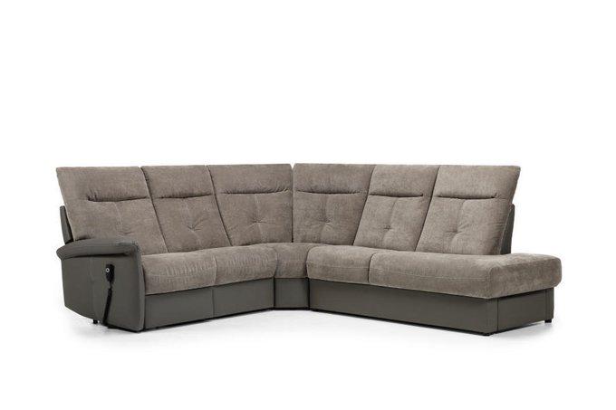 Угловой диван с реклайнером Versailles серого цвета