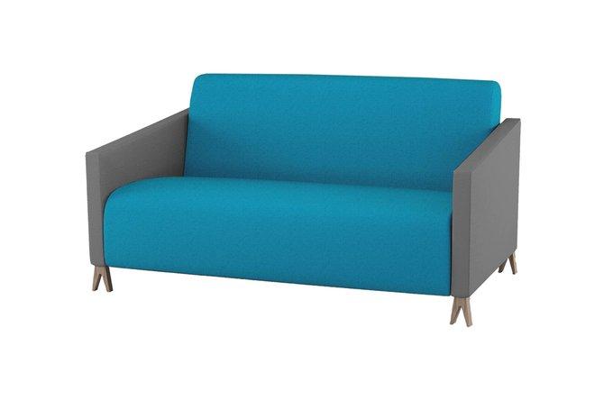 Двухместный диван Sova бирюзового цвета