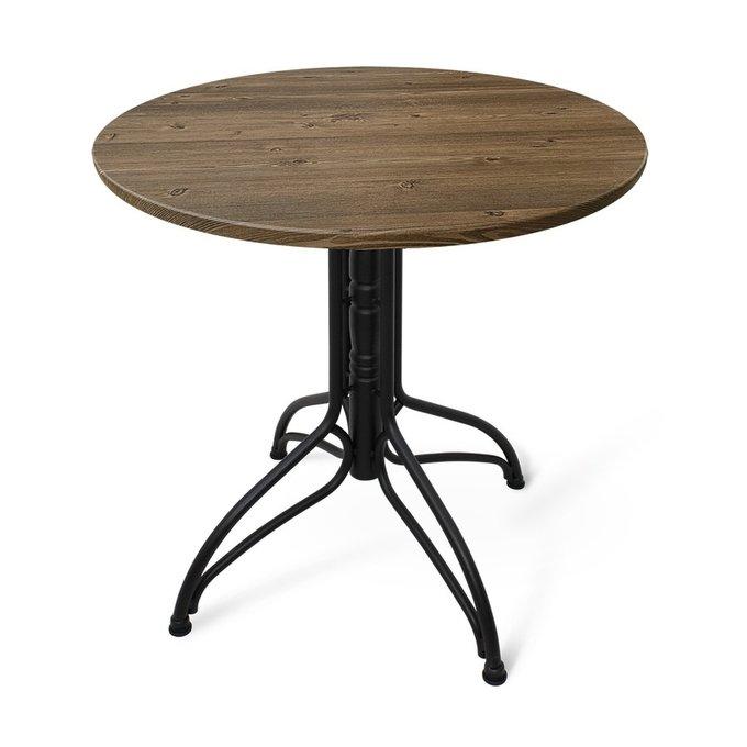 Стол обеденный цвета орех