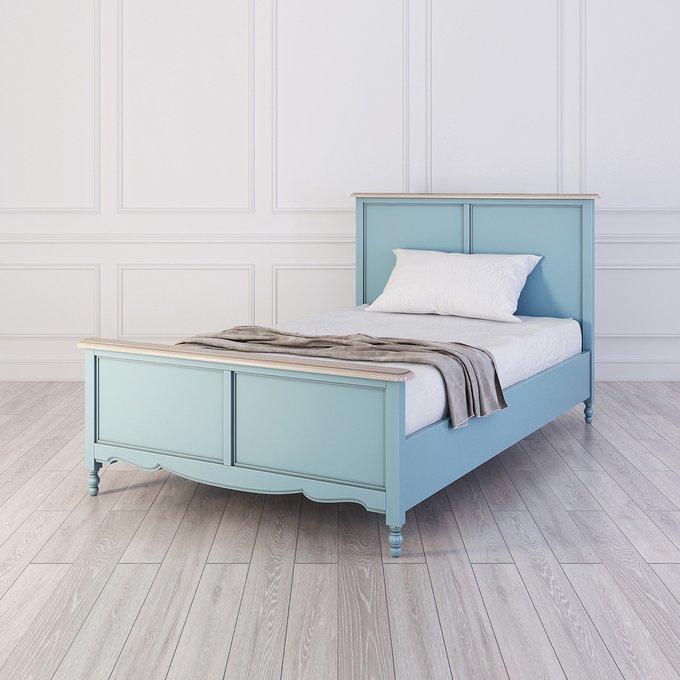 Кровать односпальная Leblanc голубого цвета 120х200