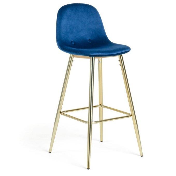 Барный стул Nilson темно-синего цвета