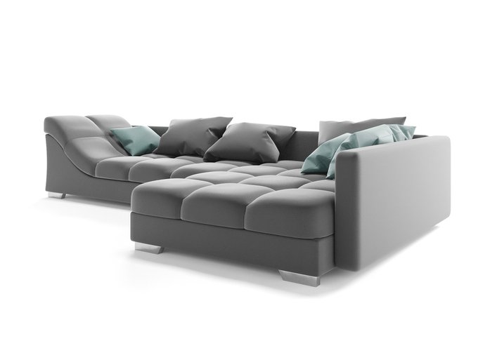 Угловой диван Аморро серого цвета