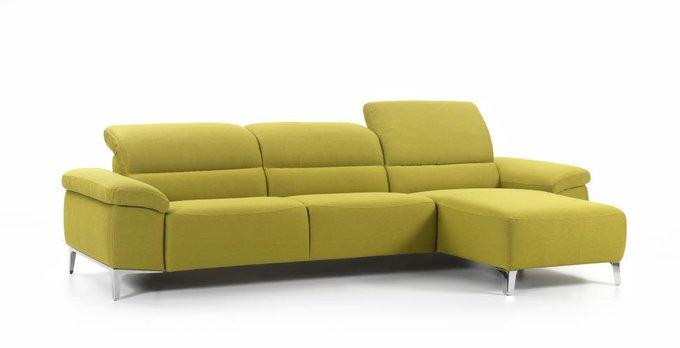 Угловой диван Remus желтого цвета