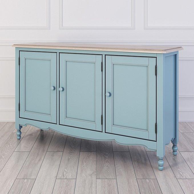 Буфет c тремя дверцами Leblanc голубого цвета