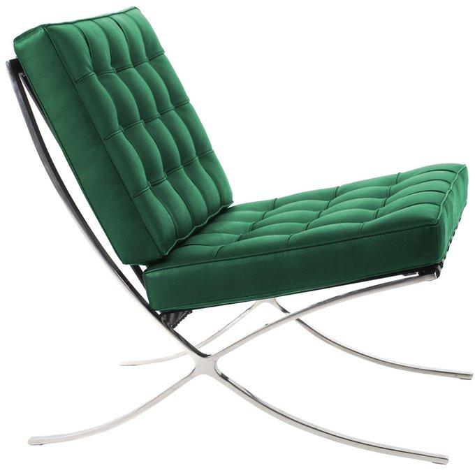 Кресло Barcelona Chair зелёного цвета