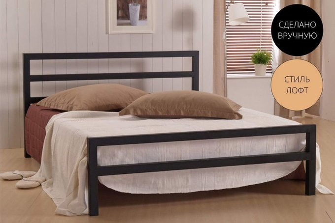 Кровать Аристо 1.4 в стиле лофт 140х200