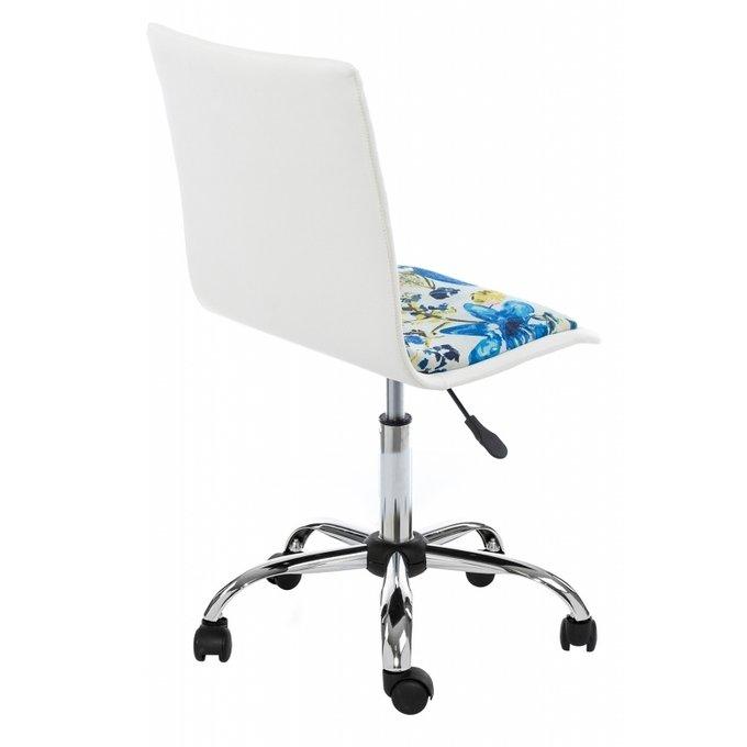 Компьютерный стул Mis с обивкой из ткани и искусственной кожи