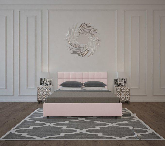 Кровать Wales Велюр Пыльная роза 200х200