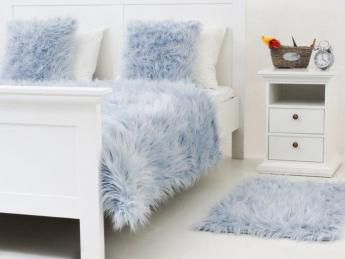 Коврик Furry голубого цвета 60х90