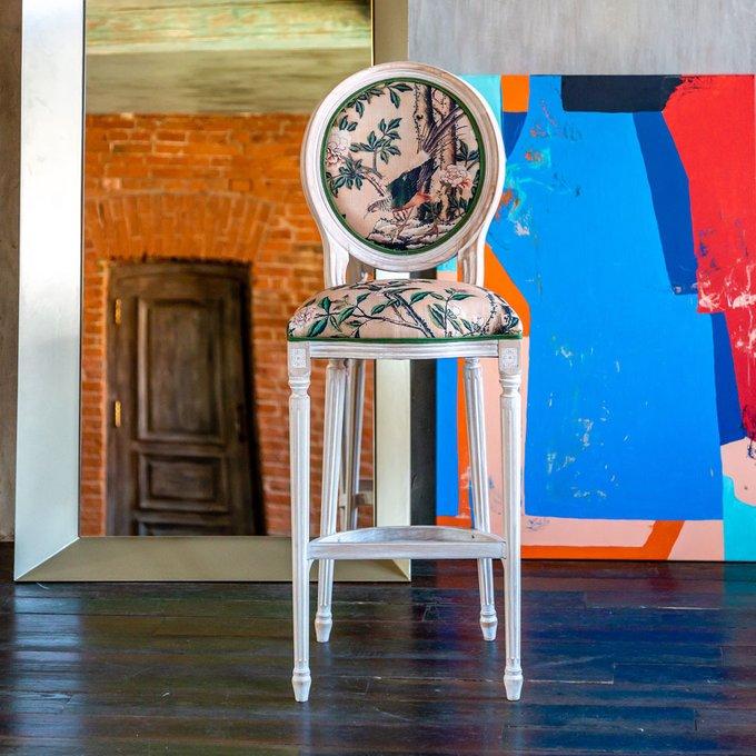 Барный стул Шинуазри бежевого цвета