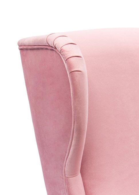 Классическое кресло Oswald розового цвета