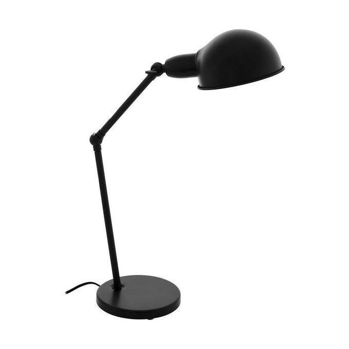 Настольная лампа Exmoor черного цвета