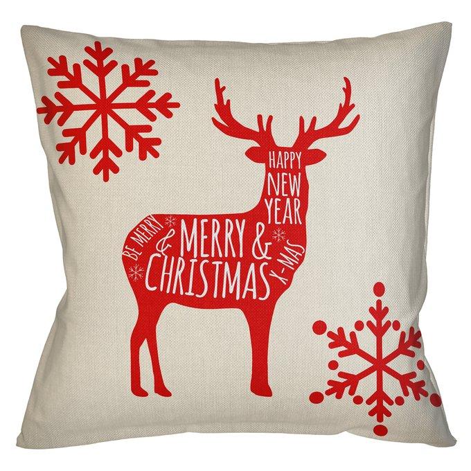 Декоративная арт подушка Новогоднее настроение версия 23