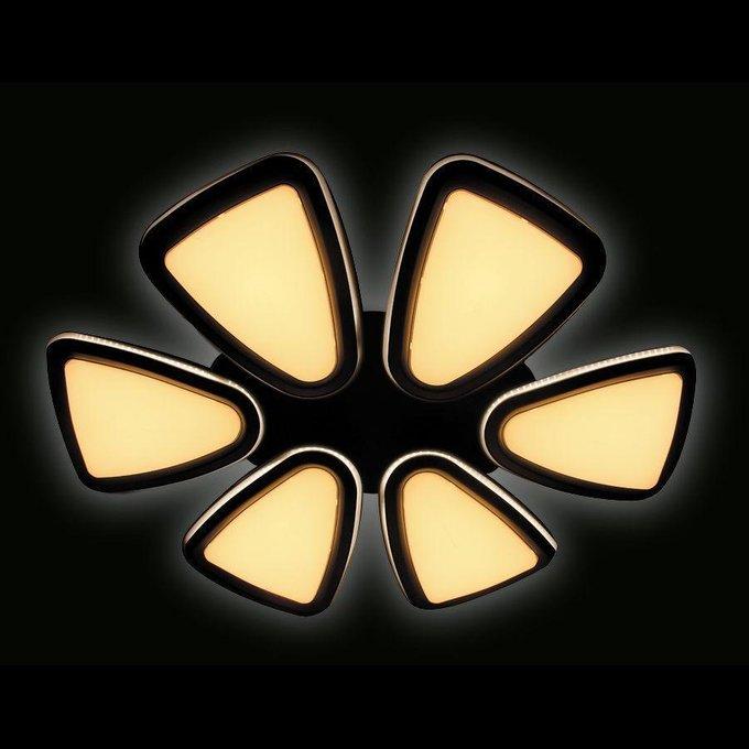 Потолочная светодиодная люстра Orbital Granule белого цвета