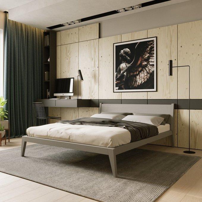 Кровать Fly цвета серый монохром 140х200