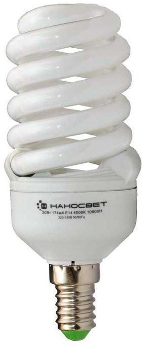 Лампа энергосберегающая белого цвета