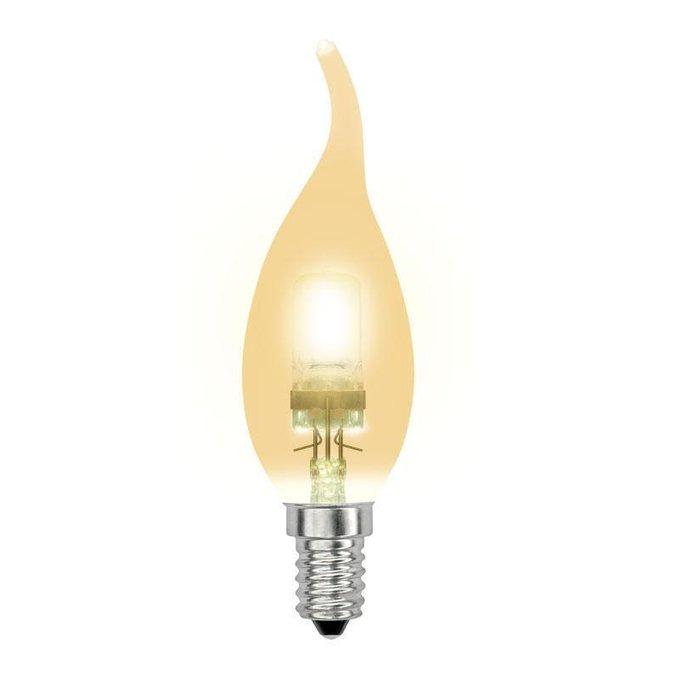Лампа галогенная Свеча на ветру золотая flame gold