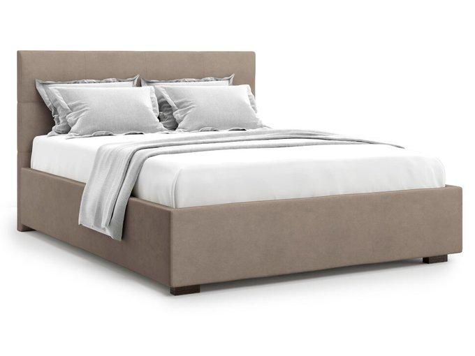 Кровать Garda 140х200 светло-коричневого цвета с подъемным механизмом