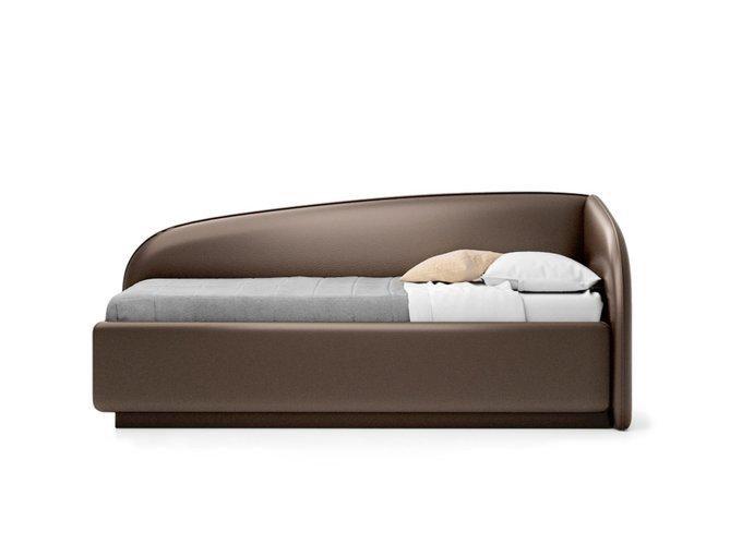 Кровать Amelia темно-коричневого цвета с решеткой 90х190