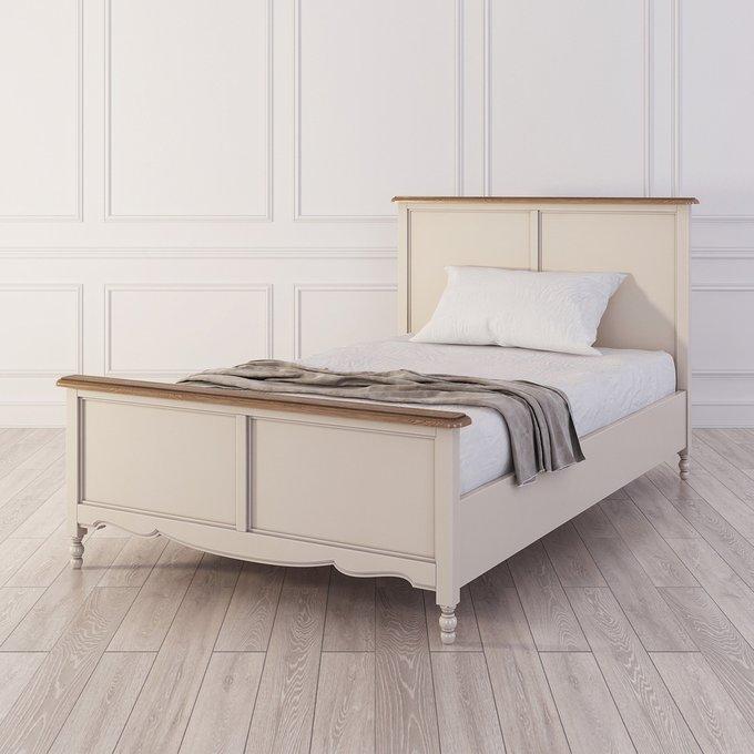 Кровать односпальная Leblanc бежевого цвета 120х200