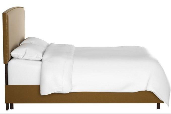 Кровать Everly Sand коричневого цвета 160х200