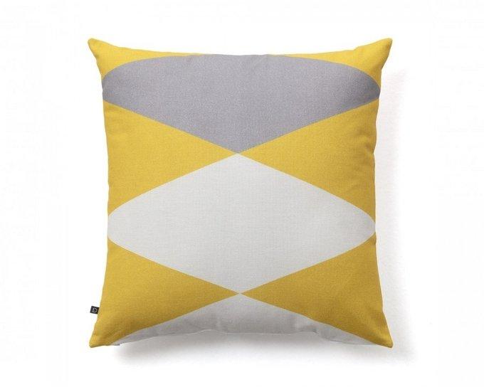 Чехол для подушки Fabiela желто-белого цвета
