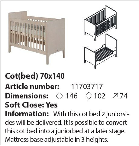 Кровать Fay из дерева 70х140