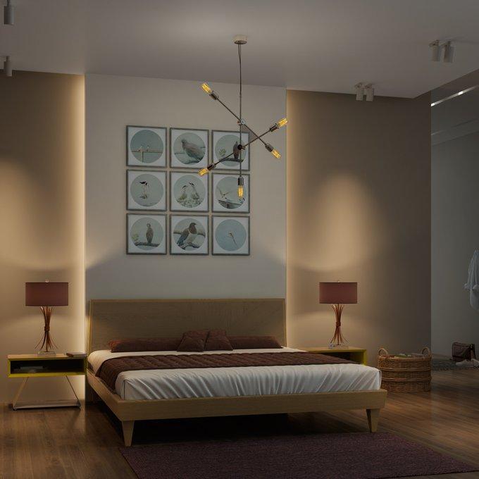 Кровать Sens! из массив дуба желтая 160х200