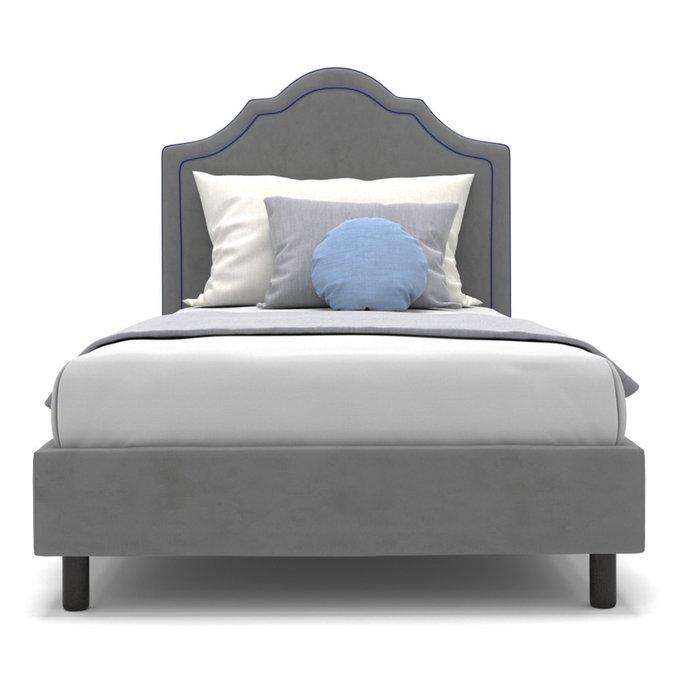 Односпальная кровать Kylie kids на ножках серого цвета 80х160